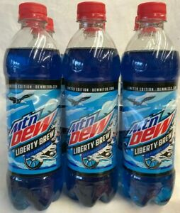 Mountain Dew-Limited Edition Liberty Brew Lot of 1-6 Pk (16.9 oz)Best By 8/31/20