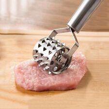 Rolling Pork Steak Beef Meat Tenderizer Stainless Steel Hammer Mallet Tools US