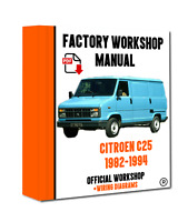OFFICIAL WORKSHOP Manual Service Repair Citroen C25 1982 - 1994
