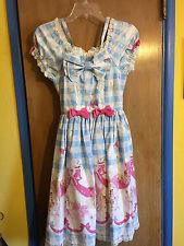 Sweet Lolita Baby the Stars Shine Bright Alice's Ribbon Kingdom Print Dress - S