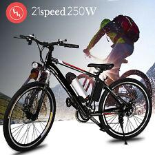26'' Electric Bike E-Bike Mountain Bike City Bicycle Shimano 21Speed 35km/h 250W