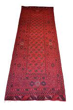 "Oriental rug runner Fine Terkaman Afghan size 2' 10""  x 9' 1""  #2956"