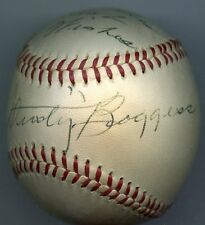 Umpire DUSTY BOGGESS Signed Baseball 1960 World Series Larsen PG  PSA/DNA Authe