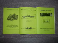 Beschreibung Deutz-Schlepper m. Gasanlage & Dreschmaschine HP & ETL Allgaier A22