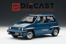AUTOART 73283 HONDA CITY TURBO II, BLUE W/STRIPES, W/MOTOCOMPO IN WHITE 1:18TH