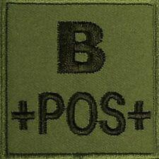 ECUSSON B+ KAKI GROUPE SANGUIN B POS POSITIF INSIGNE