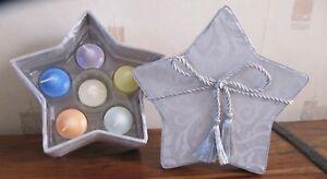 BNIB PartyLite Platinum Star Gift set: Box, 6 scented votives & holder Fab gift!