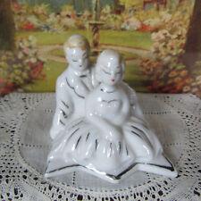 Vtg 40s 50s Porcelain LOVERS FIGURINE Dollhouse Couple Statue Decoration Japan
