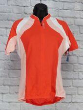 SUGOI Women Cycling Jersey Shirt Small Cycle Running Biking Stretchy Orange