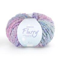 Sirdar Flurry Knitting Crochet Chunky Yarn Machine Washable Incredibly Soft 50g