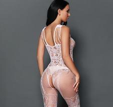 8-14 Sexy Lingerie in Pizzo Intimo rete calze corpo abito babydoll body