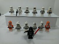 Lot Of 13 Authentic LEGO Star Wars mini figure. Stormtroopers and Darth Vader
