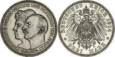Germany - Anhalt-Dessau: 3 Mark silver 1914 - UNC