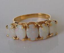 ♥ღ Fantastic ღ♥ ✨3,50 ct.✨ Opal Ring in aus 14kt Gold mit Vollopal Schmuck Opale
