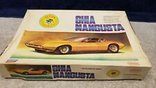 Vintage Paramount Motorized Ghia Mangusta Plastic Model Kit 1/20 Boxed Sealed