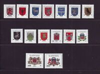 Latvia Sc 363-77A 1994 Coats of Arms stamp set mint NH Free Shipping
