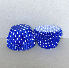 Royal Blue Polka Dot Cupcake Liners, Blue Cupcake Wrappers, Blue Baking Cups