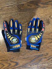 Mongoose Full Finger Bike Bicycle Or Motocross Padded Gloves Blue. Size Medium