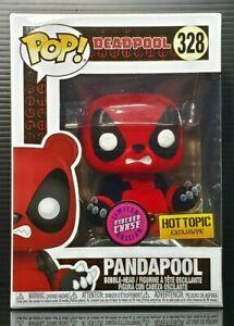 Funko Pop + Protector! Marvel #328 Deadpool Pandapool (Flocked) HT Chase *Mint*