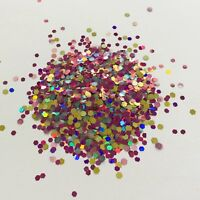 NEON MIX FESTIVAL FACE NAIL ART GLITTER 1mm HEX DOT SEQUIN 040 10//50//100g