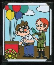 UP Carl and Ellie Thru The Years Booster At Work Disney Pin 106870