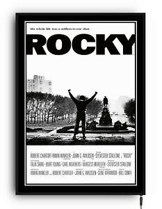 ROCKY Light up movie poster framed lightbox led sign home cinema film man cave