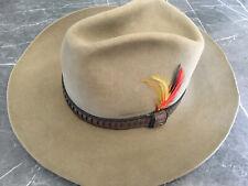 Vintage STETSON XXXX 4X Beaver Feather Cowboy Western Hat 7-1/8