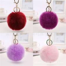 Cute Faux Rabbit Fur Ball Car Keychain Pendant Handbag Charm Keyring Pom