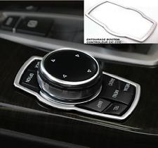 ENTOURAGE GRIS ALU BOUTON MOLETTE IDRIVE CIC CCC CONTROLEUR pour BMW E90 SERIE 3