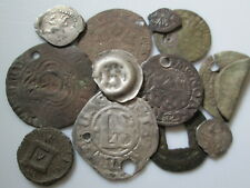 European medieval  silver & copper 12 coins lot