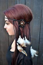 Dreamcatcher Feather Headband - Feather Hairpiece - Hair Accessories - Bohemian