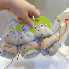3Pcs Funny Pet Cat Toys Fur False Plush Fake Mouse Kitten Cat Playing Toy