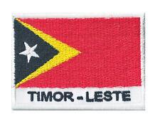 Patche écusson drapeau patch Timor Oriental thermocollant 70 x 45 mm
