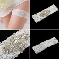 White/Ivory New Lace  Wedding  Garters Bridal Prom Garter Belt
