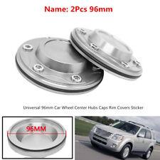 2x96mm Maximum Dia Car Wheel Center Hubs Caps Rim Covers Sticker Aluminum Alloy