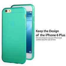 Ultra Thin Matte Flexible Soft TPU Case REAL Glass Film for iPhone 6+ 6S Plus