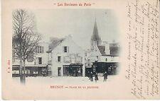 France Paris Brunoy - Place de la Jeunesse undivided back unused postcard