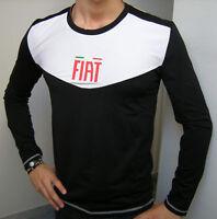 Maglia Fiat T-shirt manica lunga sotto giacca Black New