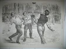 PARIS BALLON JARDIN TUILERIES VOLLEY ? ASSEMBLEE NATIONALE THIERS GRAVURES 1872