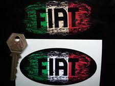 FIAT GRAFFITI STYLE OVAL 100mm Retro classic car or helmet STICKER 500 Punto etc