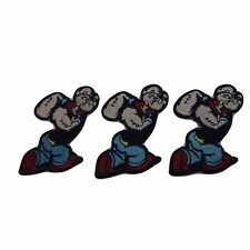 Old Cartoon Popeye the Sailor Man Series Popeye Embroidered Patch Set of 3