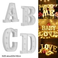 3D Letter LED Night Light Lighting Wall Hanging Marquee Sign Alphabet Decor Lamp