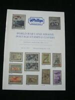 PHILLIPS AUCTION CATALOGUE 1986 WORLD WAR ONE & AIRMAIL POSTAGE STAMPS & COVERS