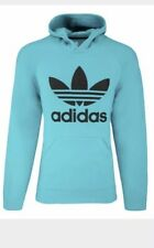 Women's Adidas Trefoil Hoodie Sweatshirt Blue Size M NWT