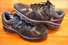 Women's Nike Air Max 2012 Plus Black / Metallic Cool Gray Running Sneakers (10)