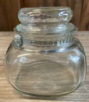 Vintage Tuxedo Glass Tobacco Jar Humidor Small