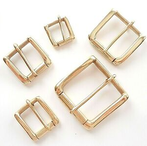 """SOLID CAST BRASS SINGLE ROLLER WEST END BUCKLE  2"""" - 3/4"""" INCH - 50MM - 20MM"""