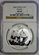 2009 10 Yuan 10Yn PANDA Silver CHINA NGC MS68 MS 68