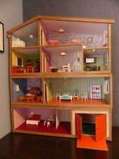 Enfants 13pc Jouet en bois Maison de poupées avec meubles et figurines Personnes Fun
