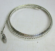 Pre-Owned SOLID Sterling Silver 925 HERRINGBONE Chain - 23.9 Grams - 20 Inches